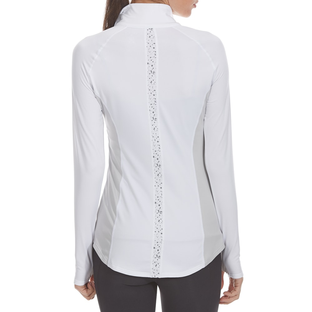 LAYER 8 Women's ¼-Zip Long-Sleeve Top - ARCTIC WHITE