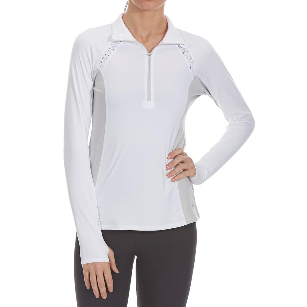 LAYER 8 Women's ¼-Zip Long-Sleeve Top - ARCTIC WHITE