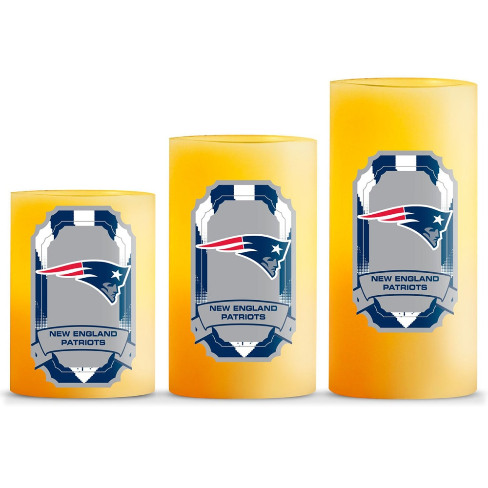 NEW ENGLAND PATRIOTS Flameless LED Scented Candle Set - NO COLOR