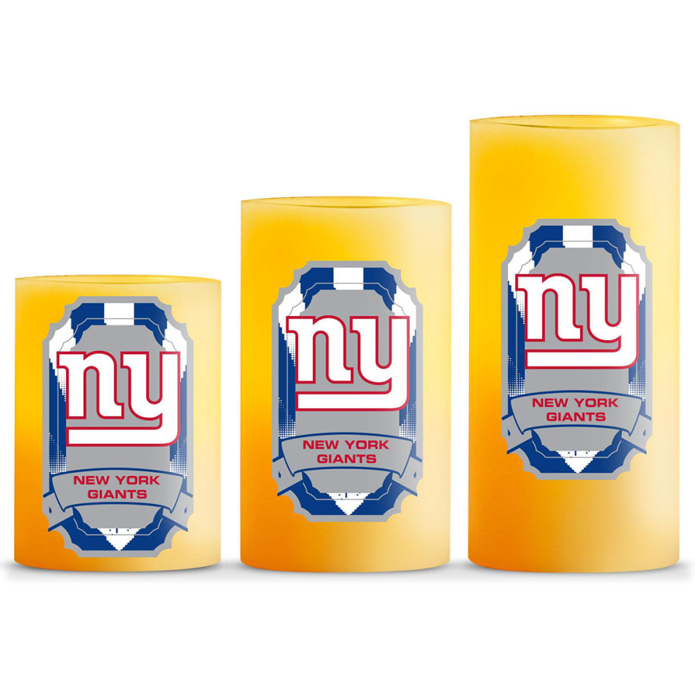 NEW YORK GIANTS LED Flameless Light Candles, 3 Pack - NO COLOR