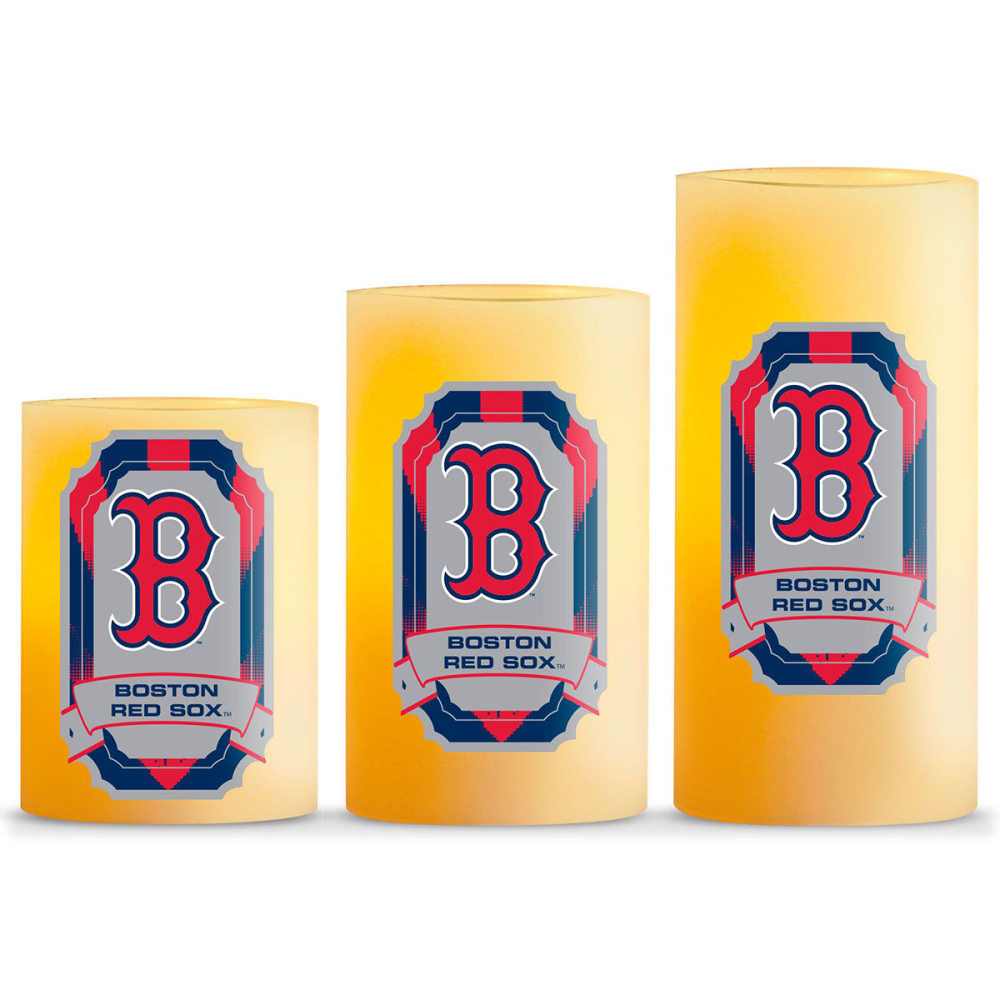 BOSTON RED SOX LED Flameless Light Candles, 3 Pack - NO COLOR