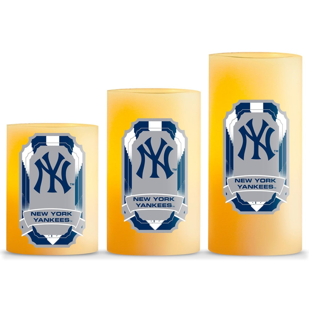 NEW YORK YANKEES Flameless LED Scented Candle Set - NO COLOR