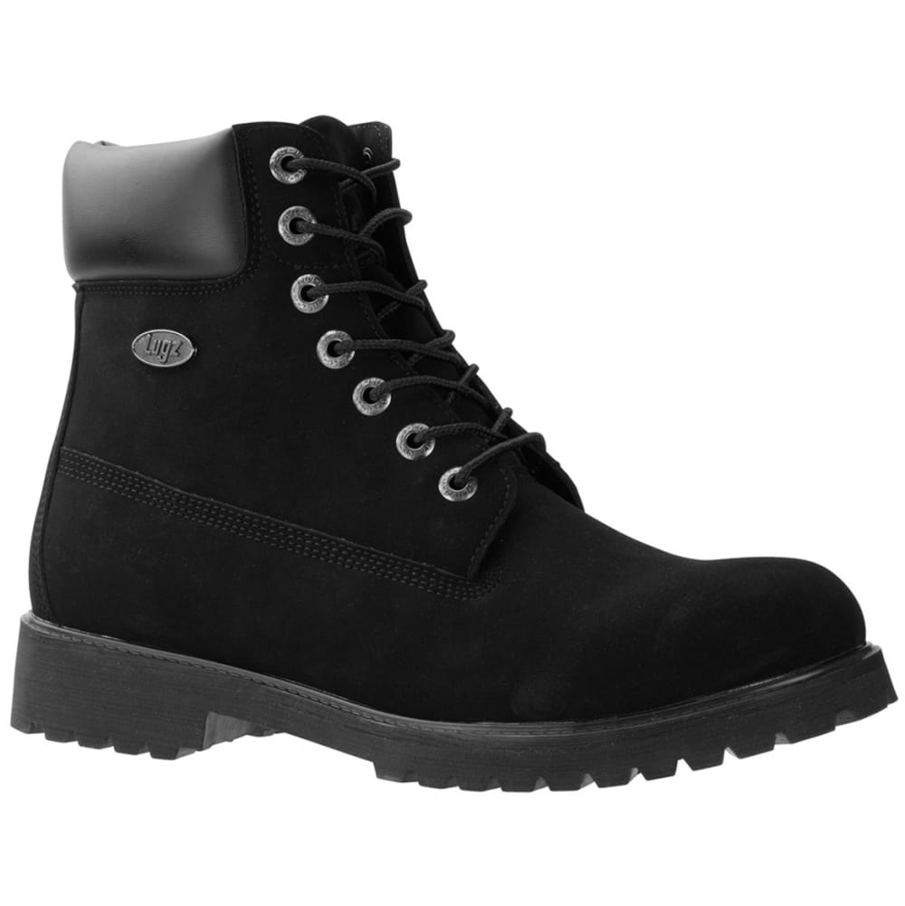 LUGZ Men's 6 in. Convoy Water-Resistant Durabrush Work Boots, Black - BLACK