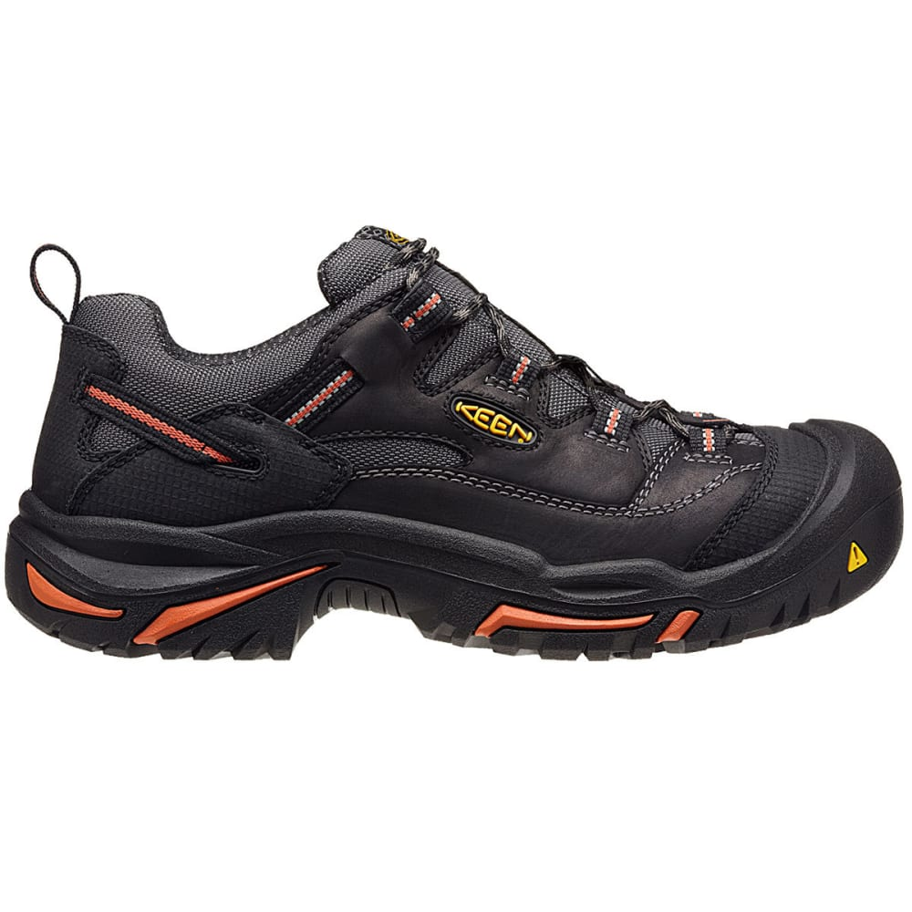 KEEN Men's Braddock Low Steel Toe Work Shoes, Black - BLACK/BOSSA NOVA