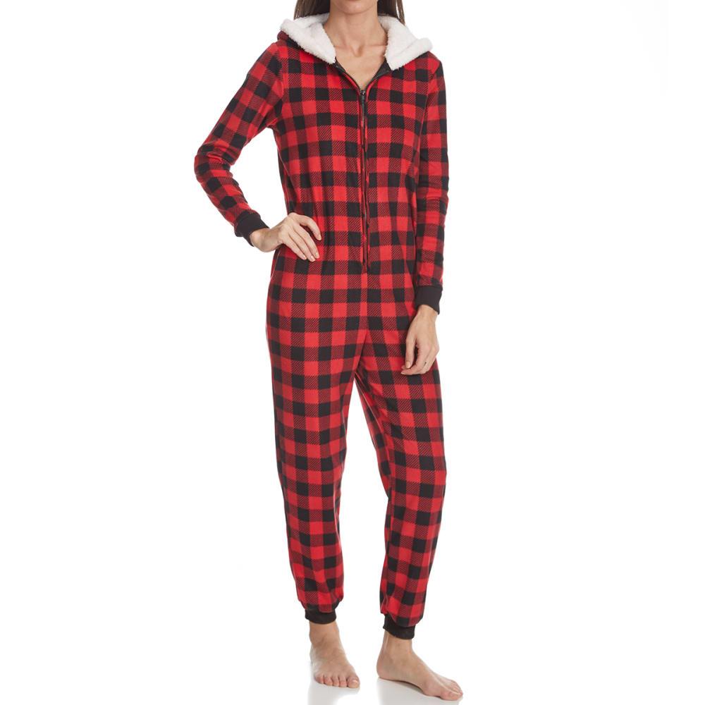 CAROLE HOCHMAN Women's Jogger Sleep Set with Sleep Mask - BUFFALO CHECK-621