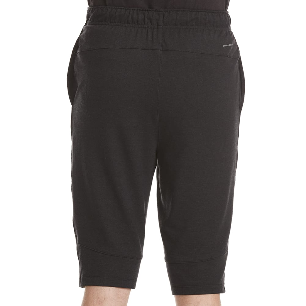 LAYER 8 Men's Stretch Knit Training Shorts - BLACK CARBON HTR