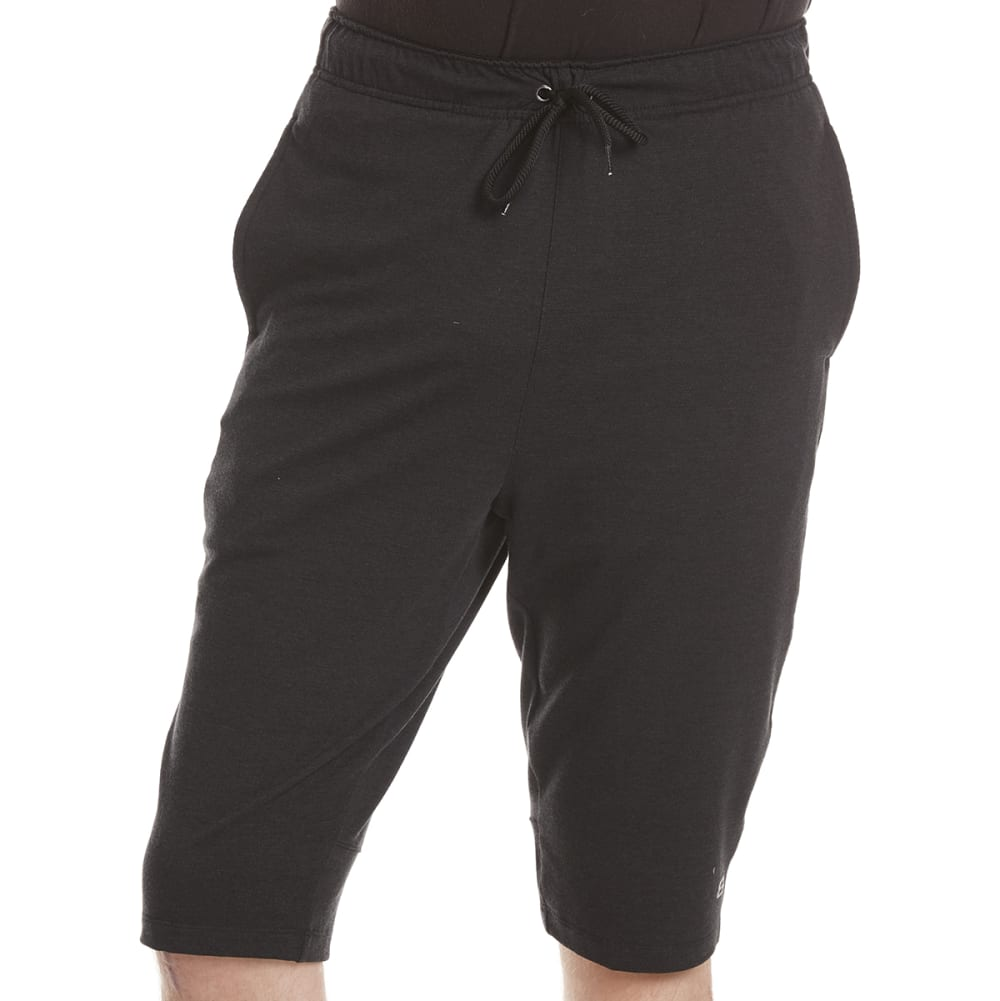 LAYER 8 Men's Stretch Knit Training Shorts - BLACK CARBON HTR
