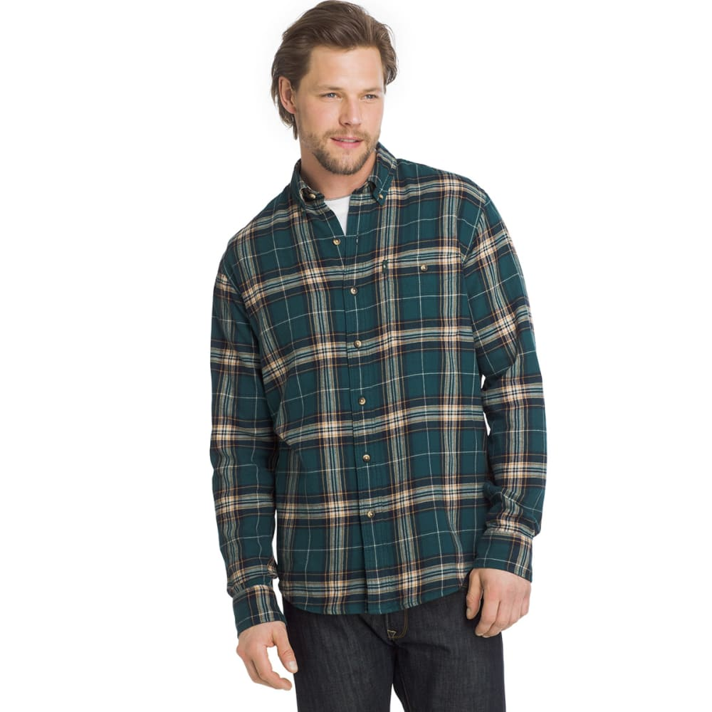 G.H. BASS & CO. Men's Fireside Flannel Shirt - DEEP TEAL-344