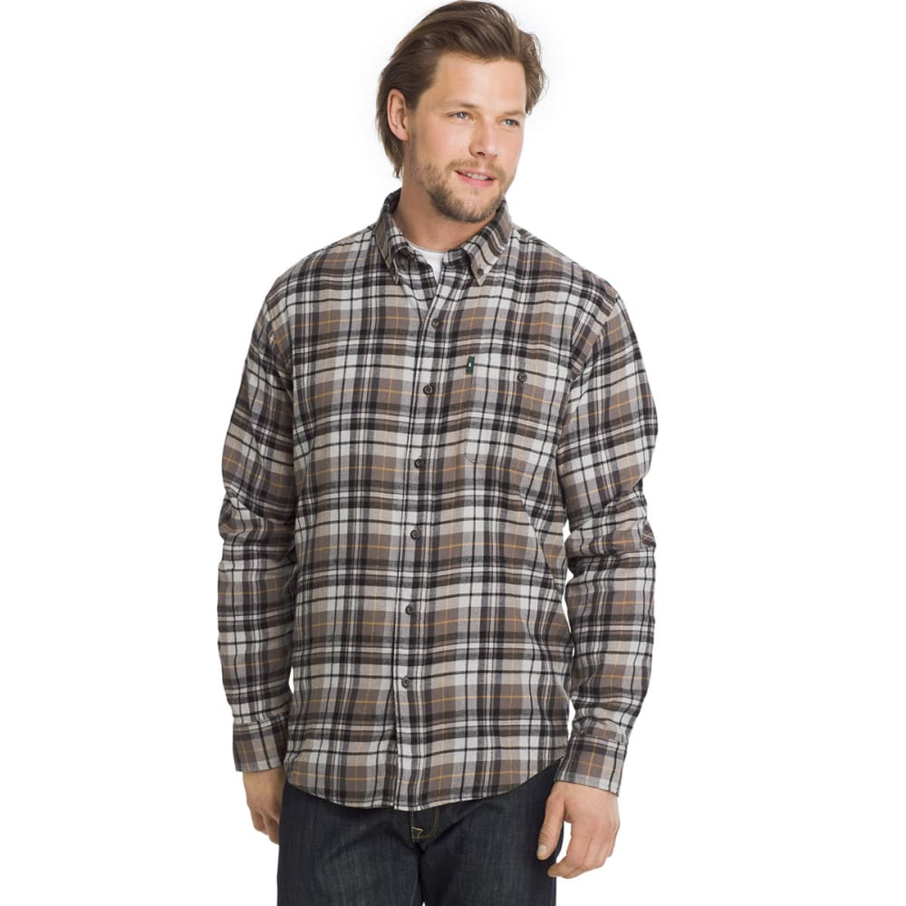 G.h. Bass & Co. Men's Fireside Flannel Long-Sleeve Shirt - Brown, M