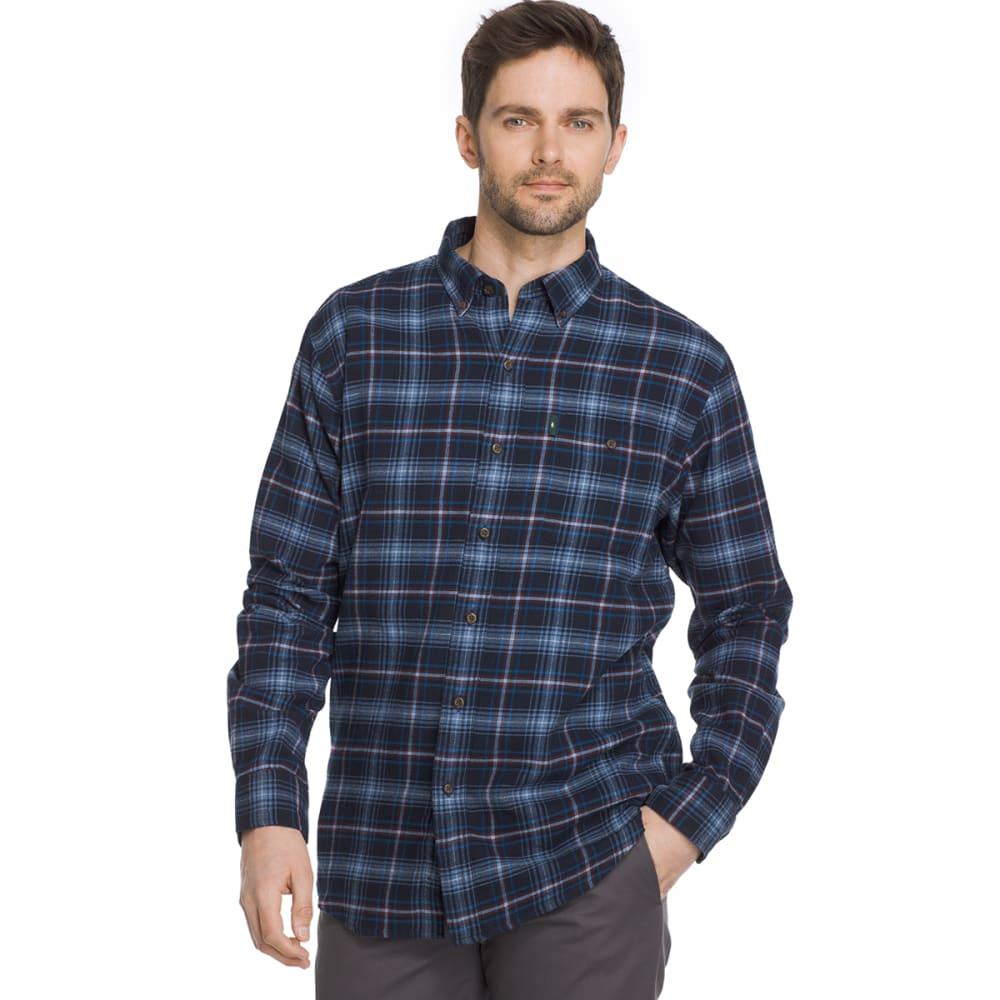 G.H. BASS & CO. Men's Fireside Flannel Long-Sleeve Shirt - BLUE SALUTE-403