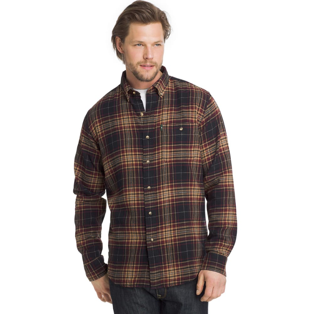 G.H. BASS & CO. Men's Fireside Flannel Long-Sleeve Shirt - ANTHRACITE-401