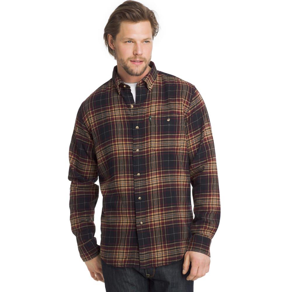 G.H. BASS & CO. Men's Fireside Flannel Long-Sleeve Shirt - ANTHRACITE-401