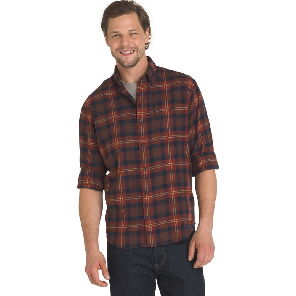G.H. BASS & CO. Men's Fireside Flannel Shirt - FIRED BRICK-805