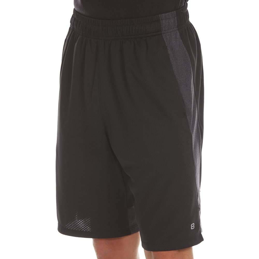 LAYER 8 Men's Bubble Mesh Training Shorts - BLACK/OBSIDIAN