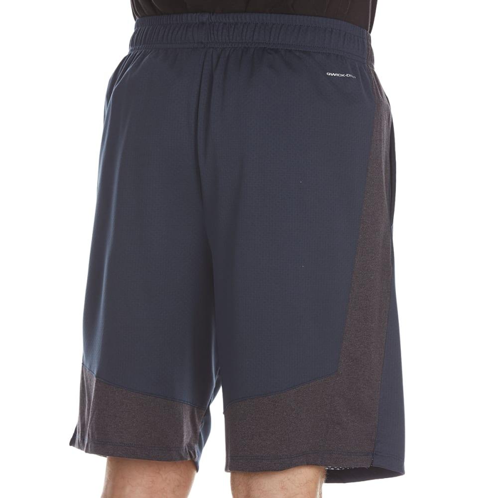 LAYER 8 Men's Bubble Mesh Training Shorts - MIDNIGHT/OBSIDIAN HT