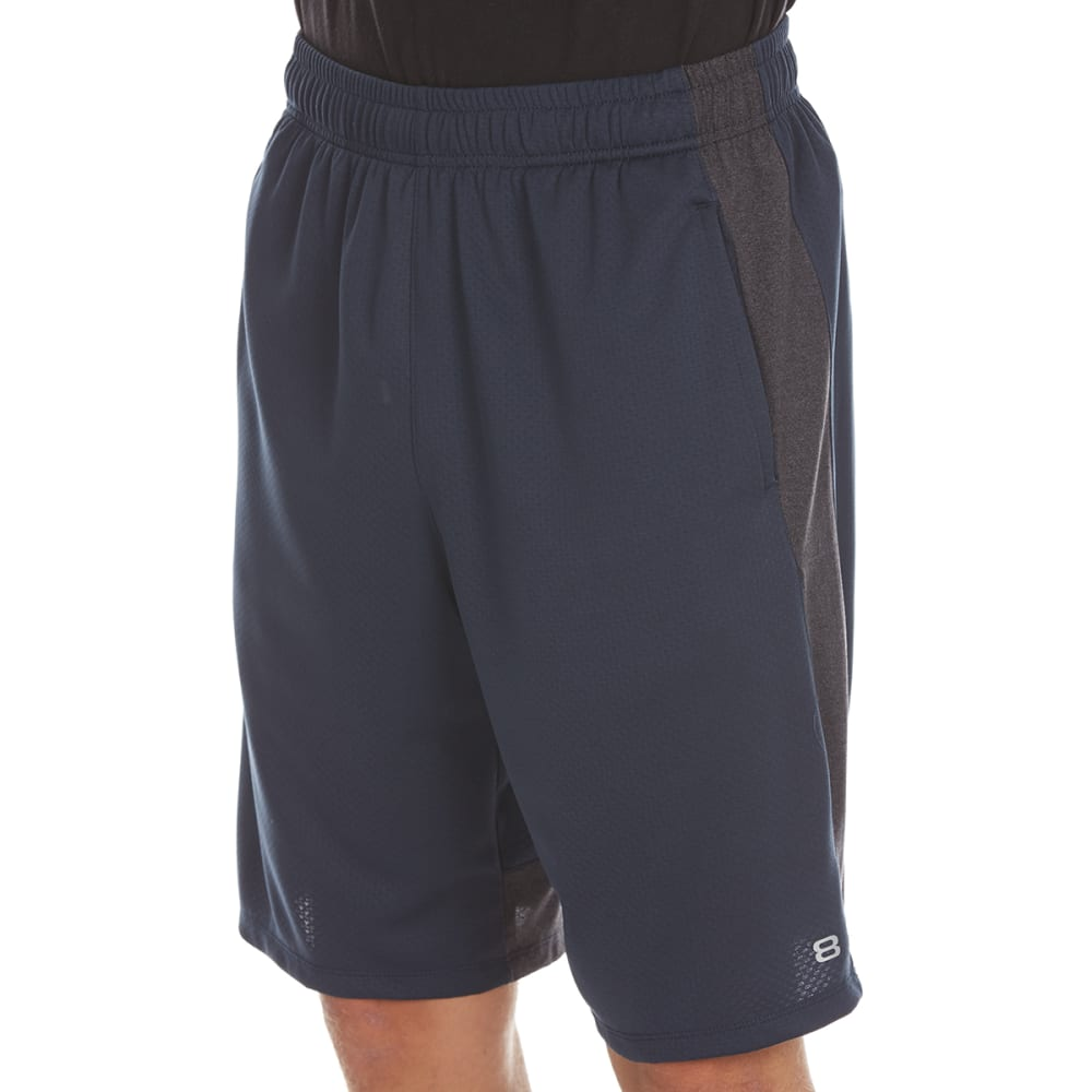 LAYER 8 Men's Bubble Mesh Training Shorts - MIDNIGHT/OBSIDIAN HT