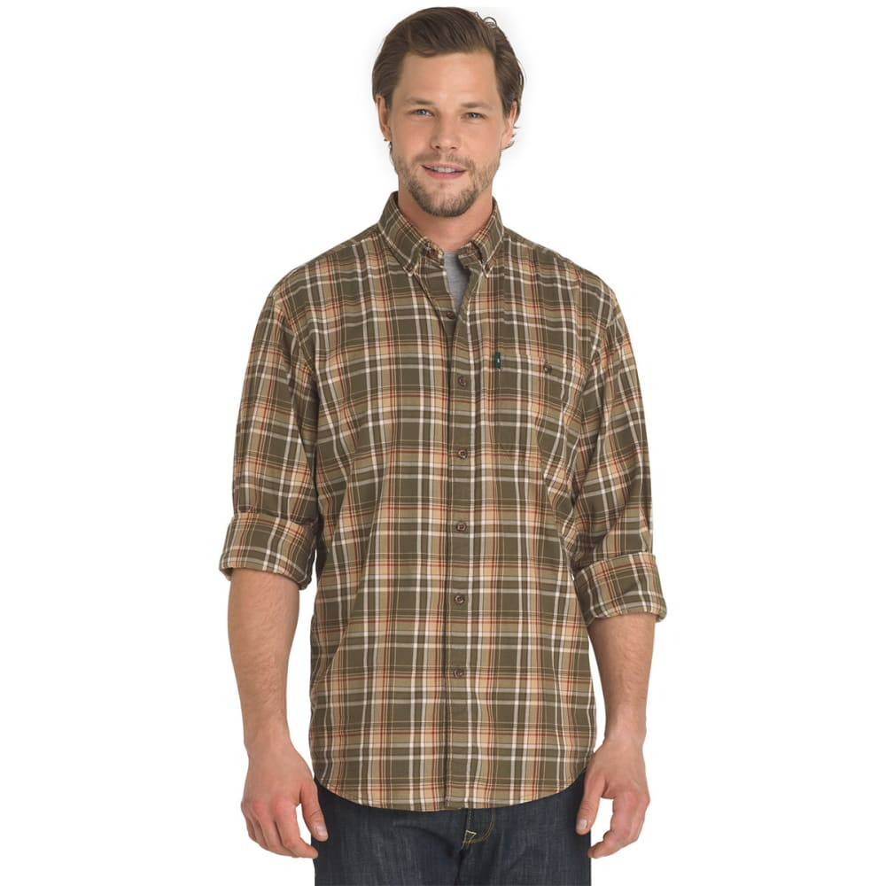 G.H. BASS & CO. Men's Madawaska Long-Sleeve Trail Shirt - FOREST NIGHT-314