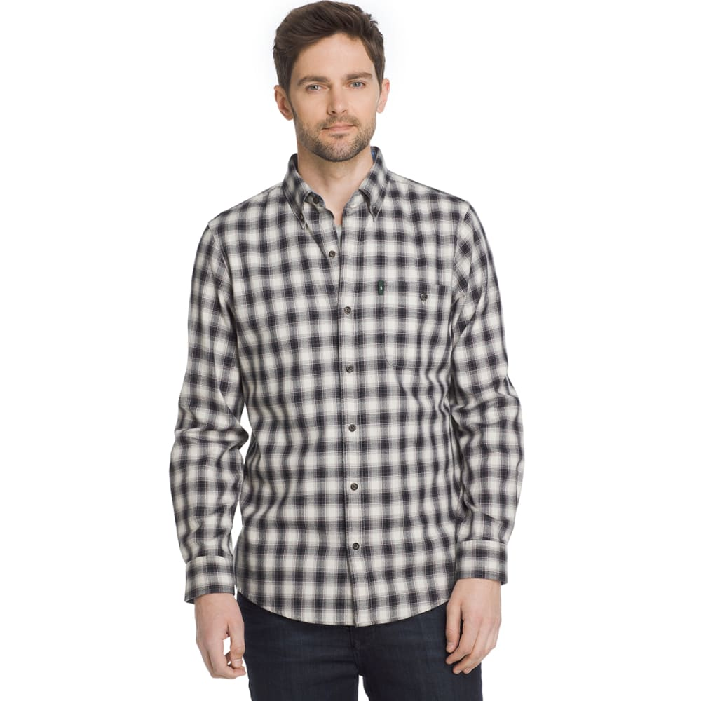 G.H. BASS & CO. Men's Campside Dobby Long-Sleeve Shirt - SILVER BIRCH-270