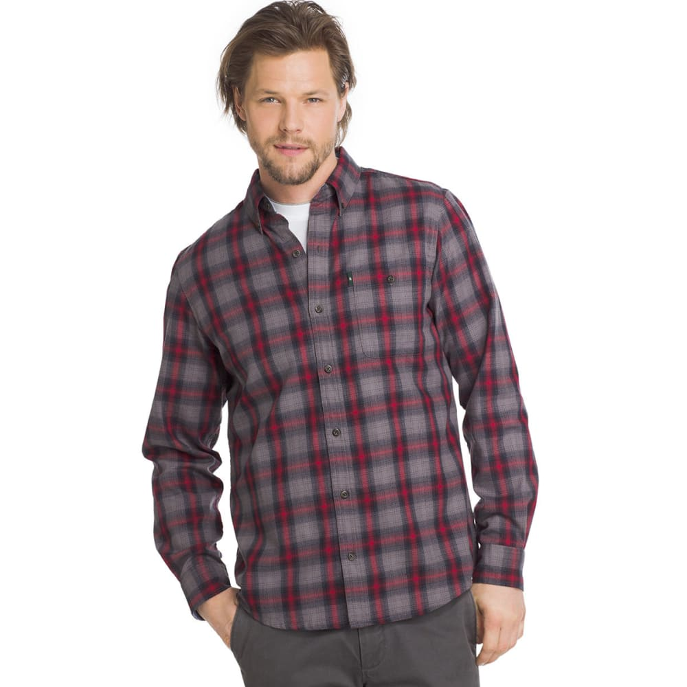G.H. BASS & CO. Men's Campside Dobby Long-Sleeve Shirt - DECEMBER SKY-051