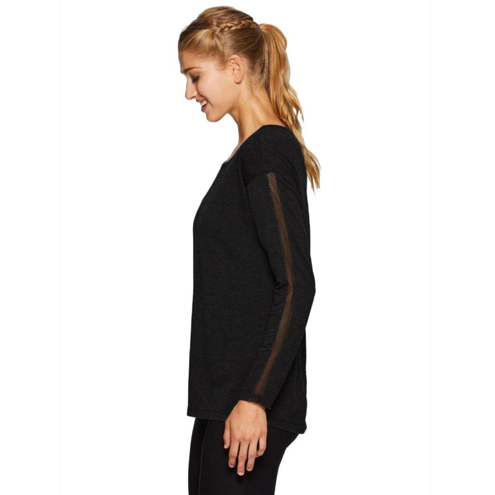 RBX Women's Studio French Terry Mesh Detail Tunic - BLACK-A