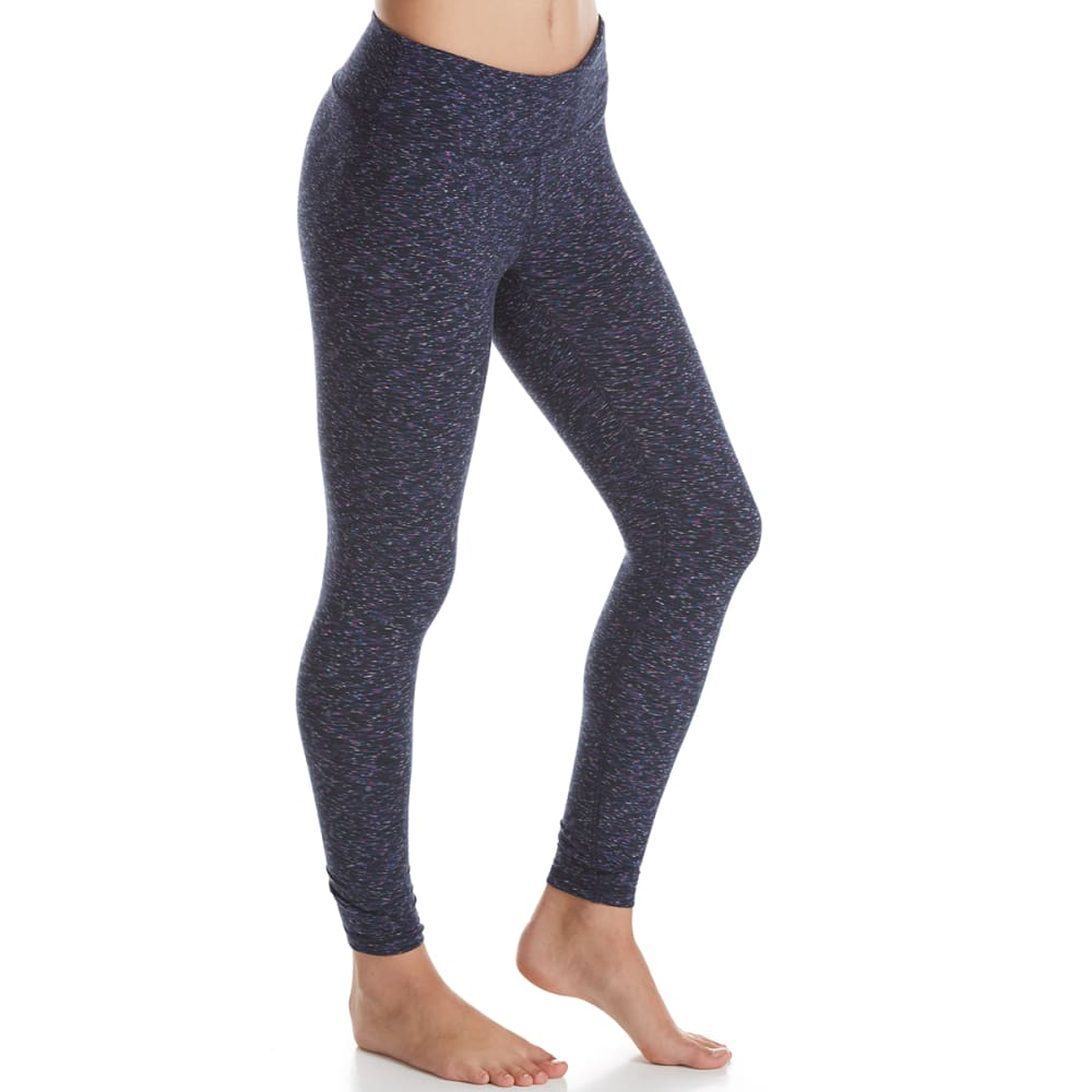 RBX Women's Double Peached Double Speckled Leggings - NAVY-B