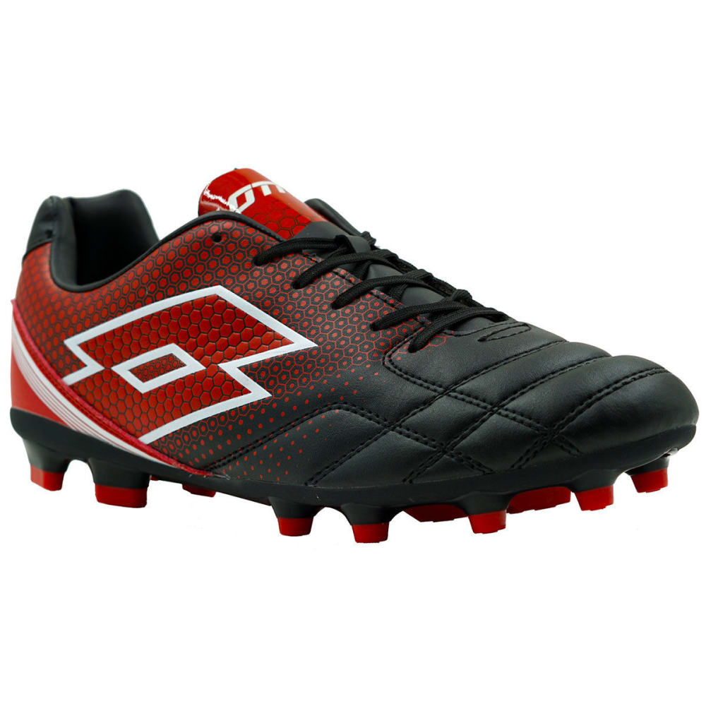 LOTTO Men's Spider 700 XIII Soccer Cleats, Black/Red - BLACK/RED