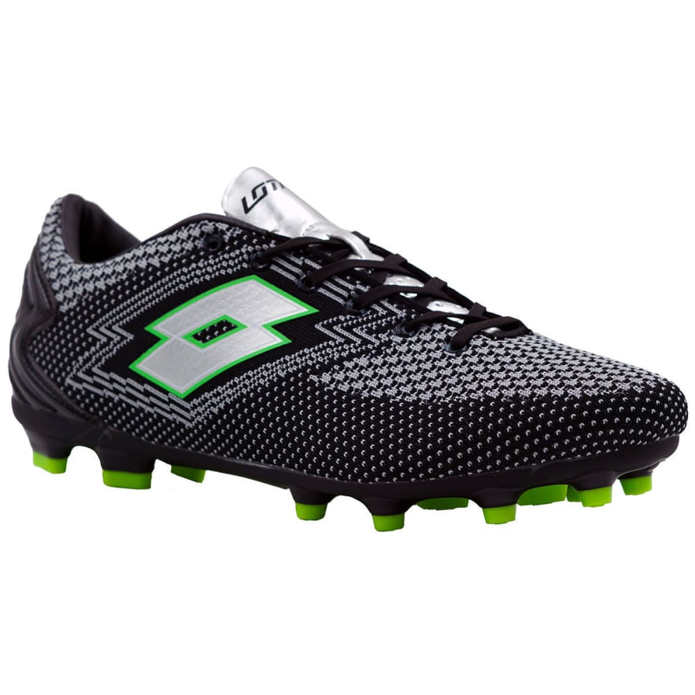 LOTTO Men's Maestro Soccer Cleats, Grey/Black - GREY/BLACK