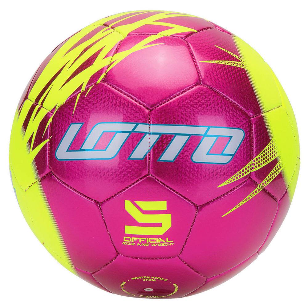 LOTTO Kids' Forza Soccer Ball, Pink Volt - PINK/VOLT