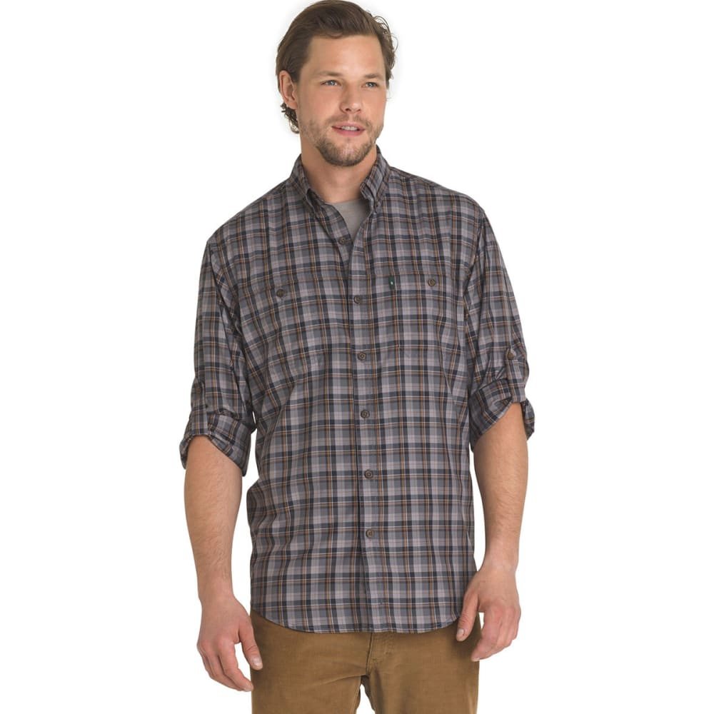 G.H. BASS & CO. Men's Plaid Explorer Sportsman Long-Sleeve Shirt - MAGNET-050
