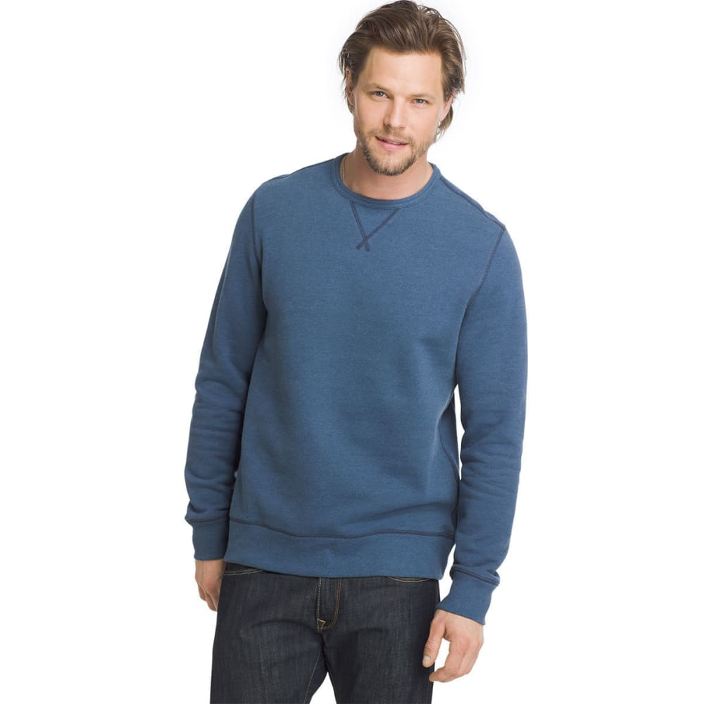 G.H. BASS & CO. Men's Sueded Mountain Fleece Long-Sleeve Pullover - BERING SEA HTR-435