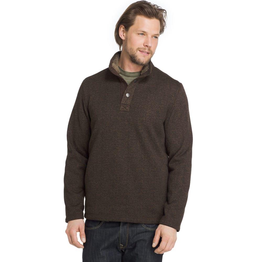 G.h. Bass & Co. Men's Madawaska Snap Fleece Pullover - Brown, L