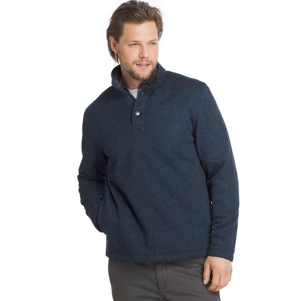 G.H. BASS & CO. Men's Madawaska Snap Fleece Pullover - BLUE WING TEAL-432