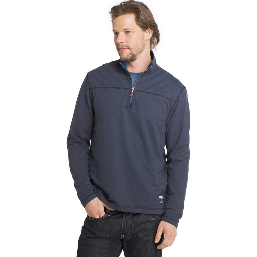 G.H. BASS & CO. Men's Quarter-Zip Fleece Pullover - BLUE NIGHTS HTR-473