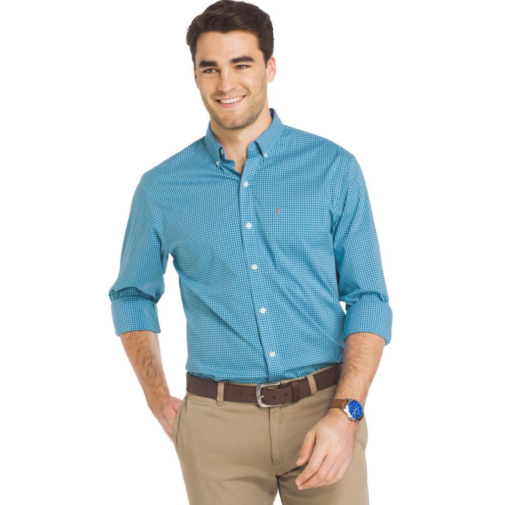 IZOD Men's Advantage Grid Poplin Long-Sleeve Shirt - GULF STREAM-446
