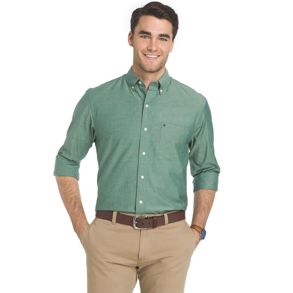 IZOD Men's Oxford Solid Stretch Long-Sleeve Shirt - JUNE BUG-308