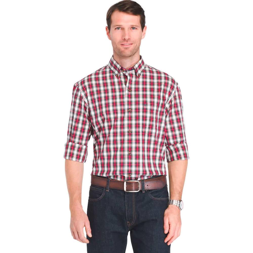 IZOD Men's Holiday Tartan Long-Sleeve Shirt - VANILLA ICE-162