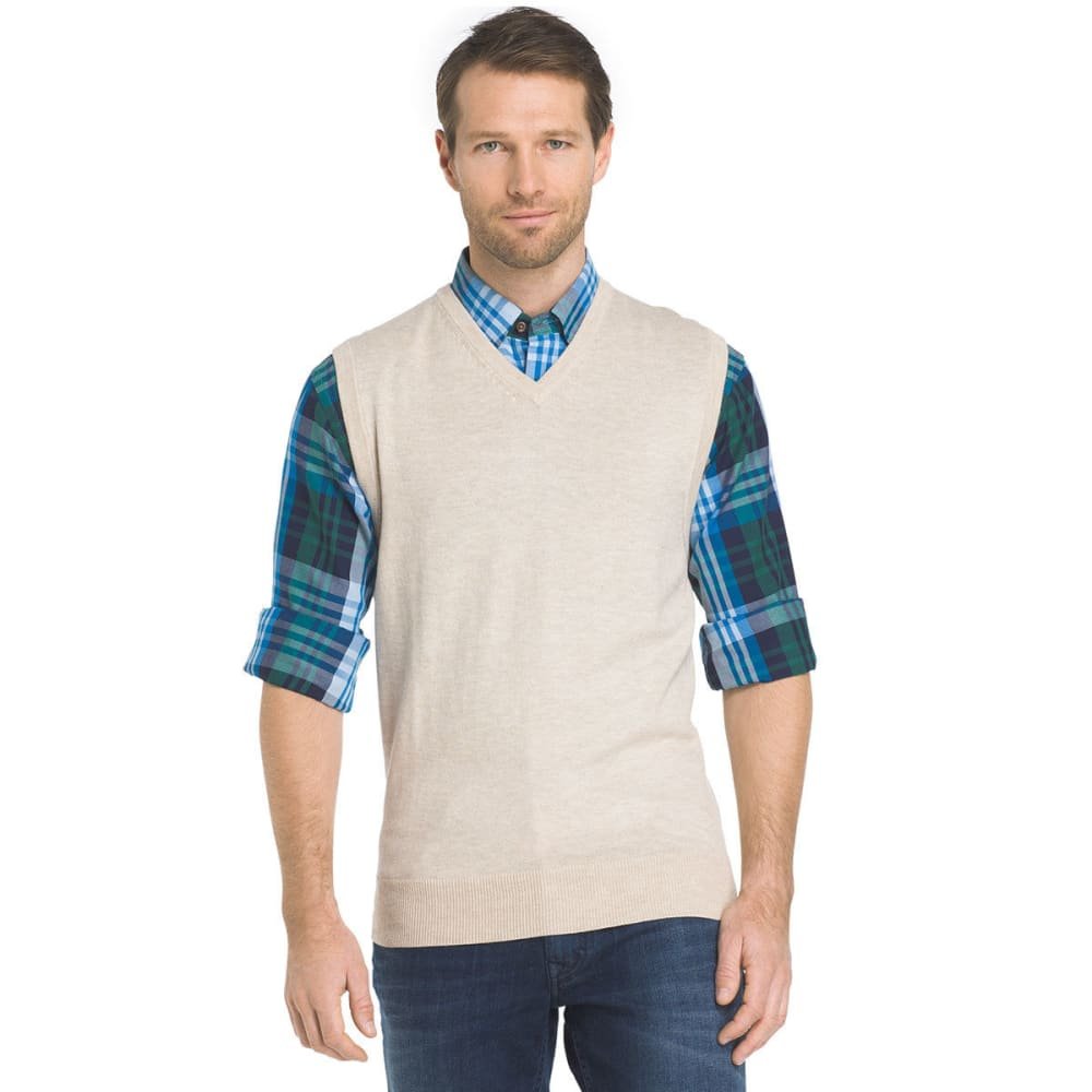 IZOD Men's Fieldhouse Fine Gauge Sweater Vest - ROCK HTR-268
