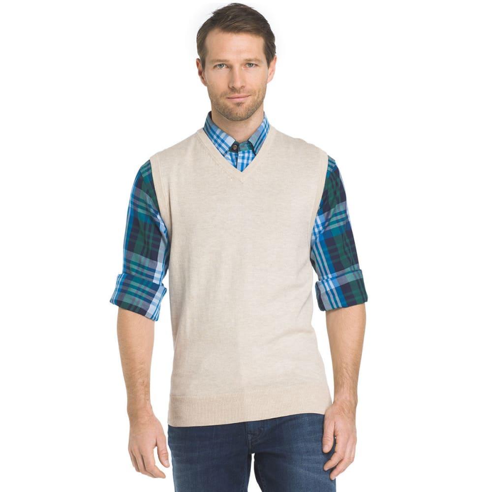 IZOD Men's Fieldhouse Fine Gauge Sweater Vest - ROCK HTR-268