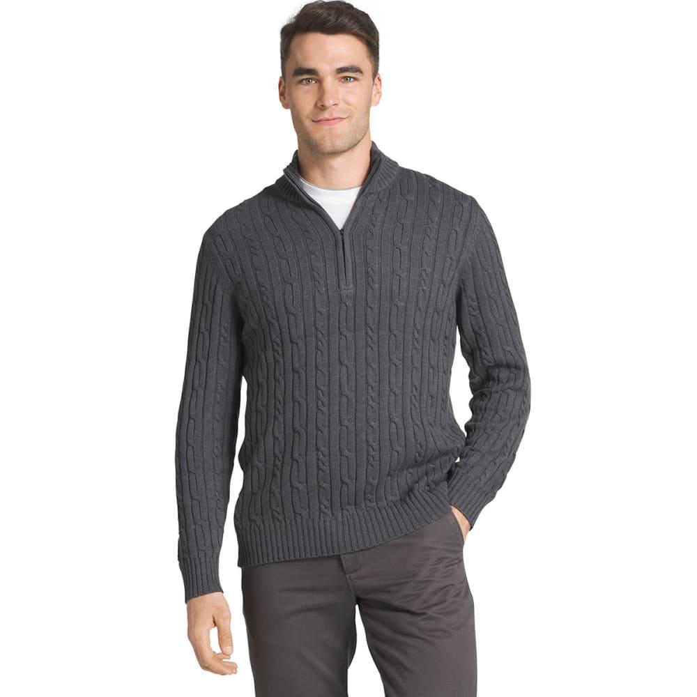 IZOD Men's Fieldhouse 1/4 Zip Long-Sleeve Sweater M