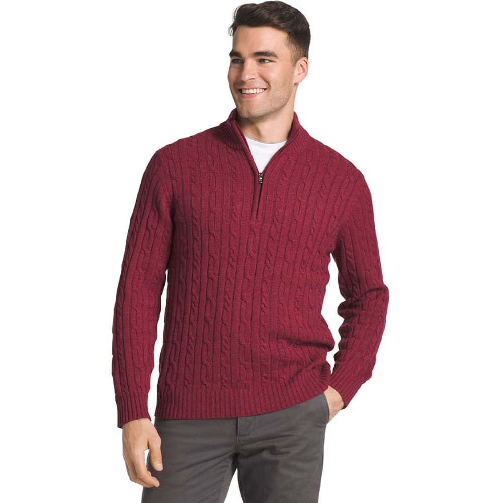 IZOD Men's Fieldhouse 1/4 Zip Long-Sleeve Sweater - BIKING RED-620