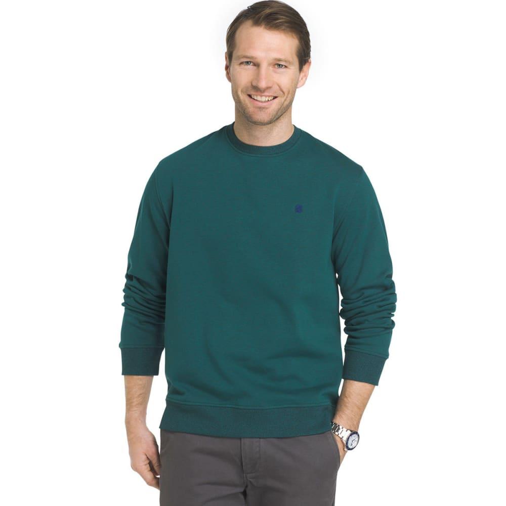 IZOD Men's Advantage Solid Sueded Crew Fleece Pullover - JUNE BUG-308