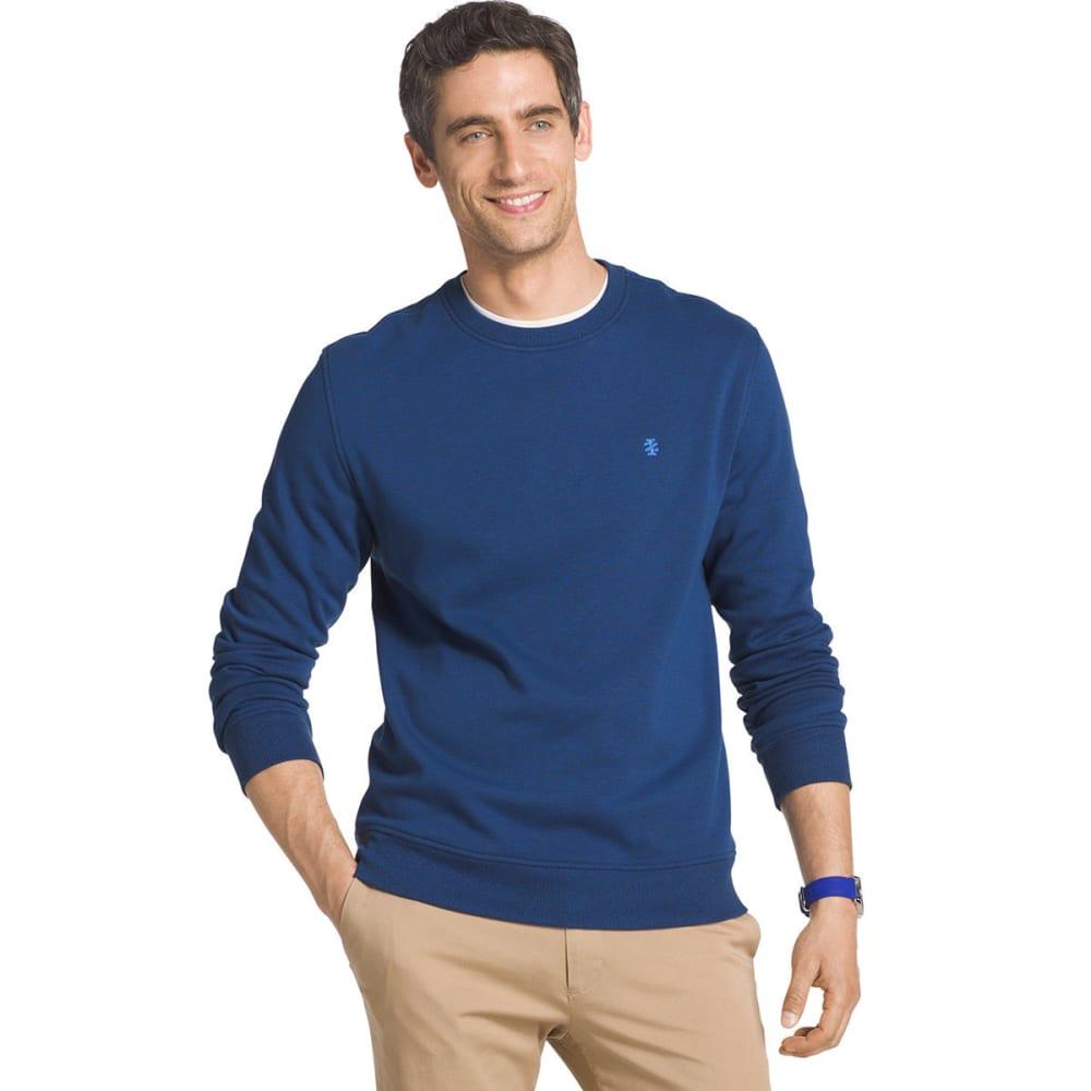 IZOD Men's Advantage Solid Sueded Crew Fleece Pullover - TRUE BLUE-426