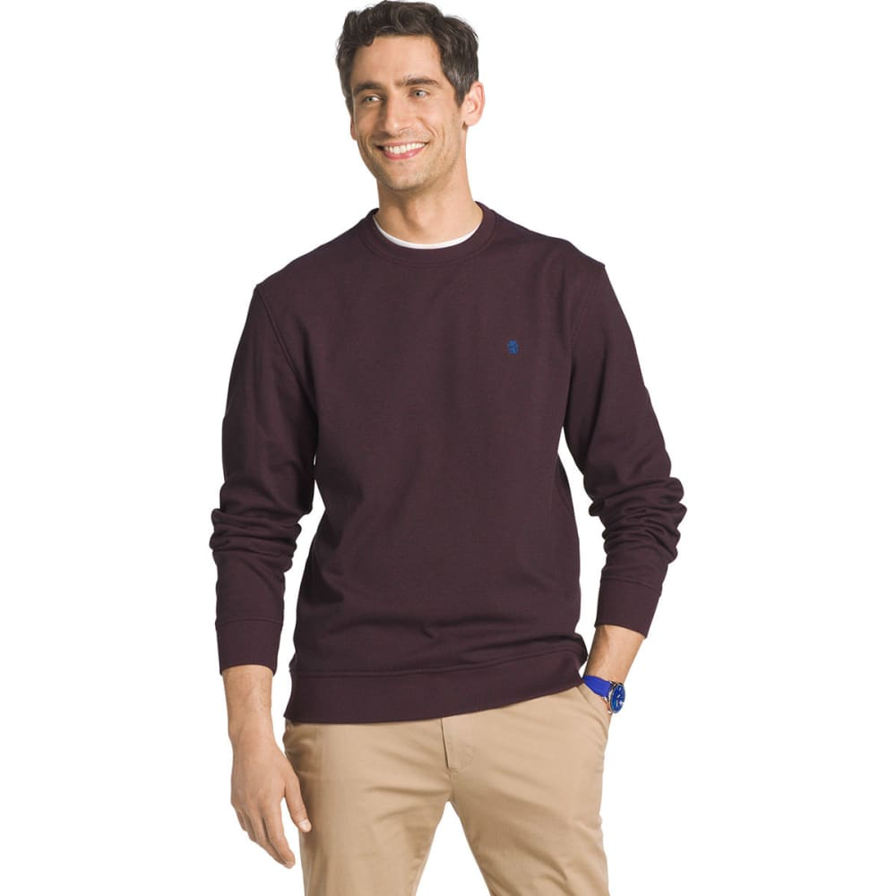 IZOD Men's Advantage Solid Sueded Crew Fleece Pullover - FIG-505