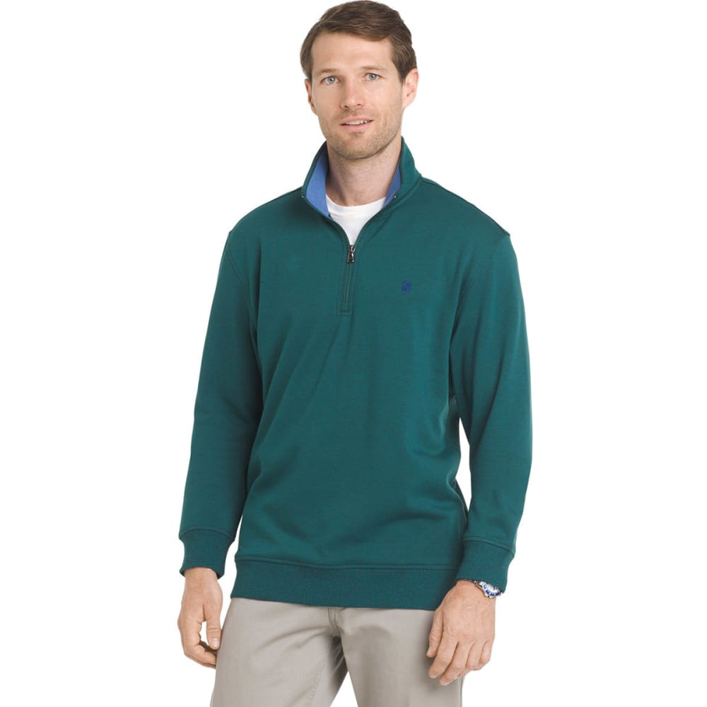 IZOD Men's Advantage Performance 1/4 Zip Fleece Pullover - JUNE BUG-308