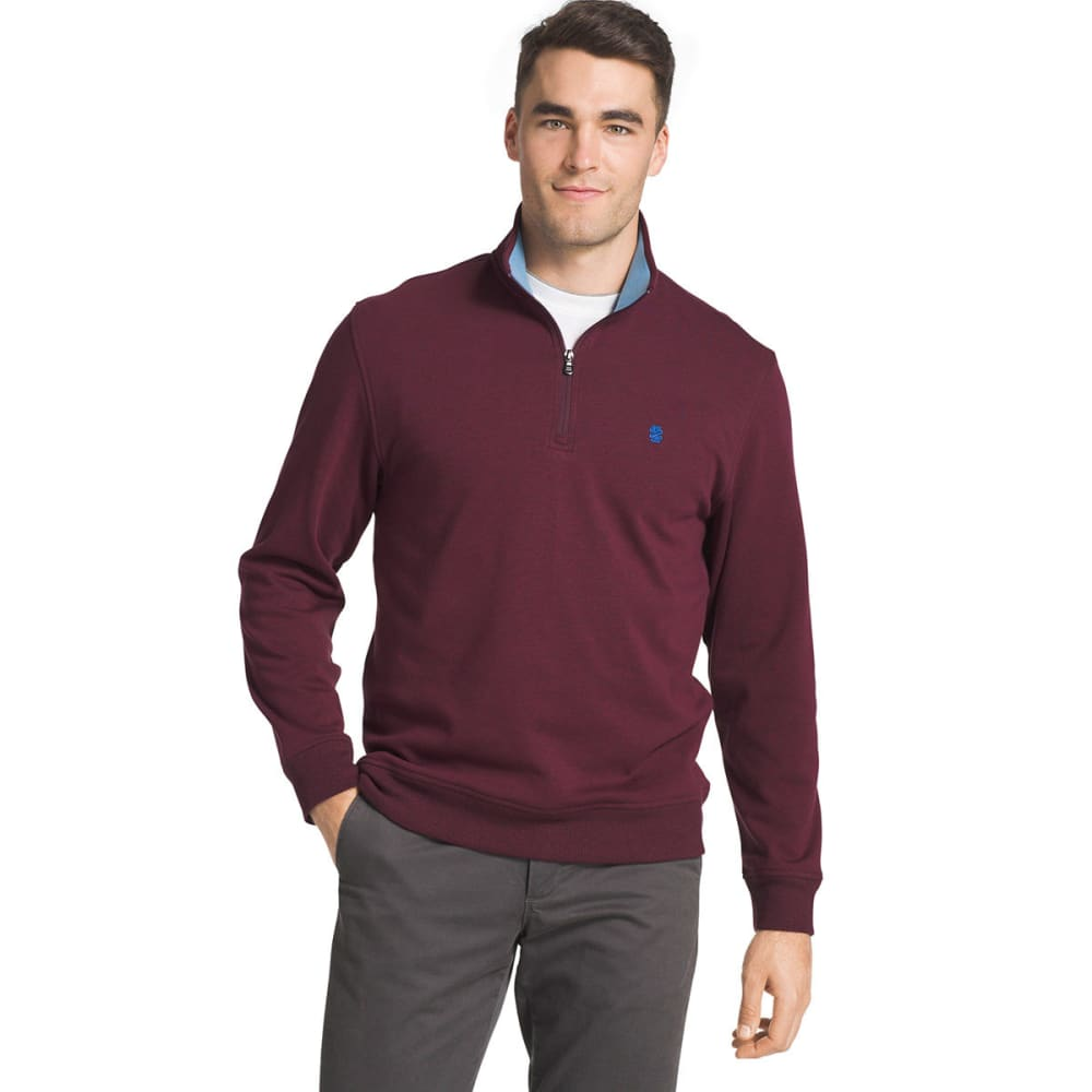 IZOD Men's Advantage Performance ¼-Zip Fleece Pullover - FIG-505