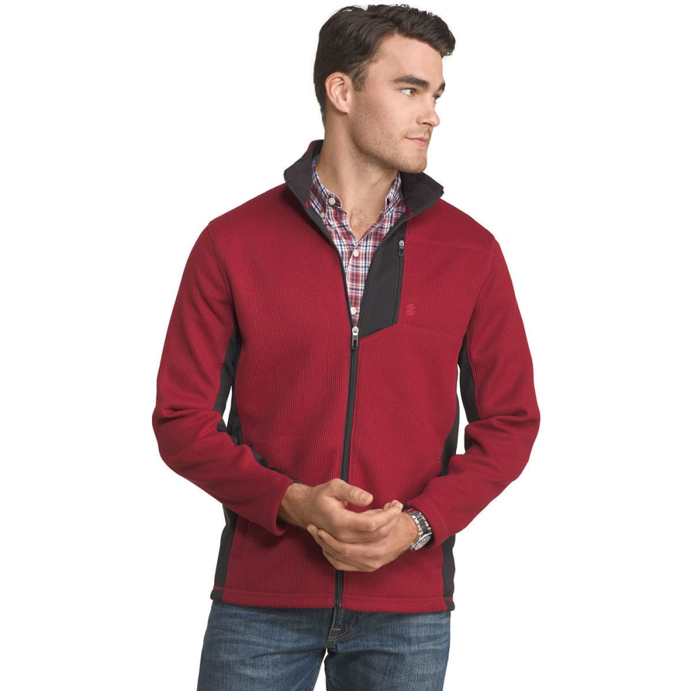 Izod Men's Advantage Regular-Fit Performance Shaker Fleece Jacket - Red, XXL