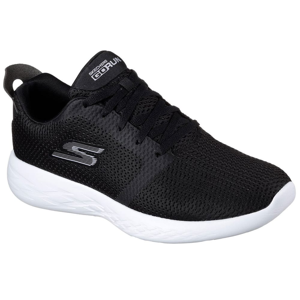SKECHERS Men's GOrun 600 – Refine Running Shoes, Black/White - BLACK