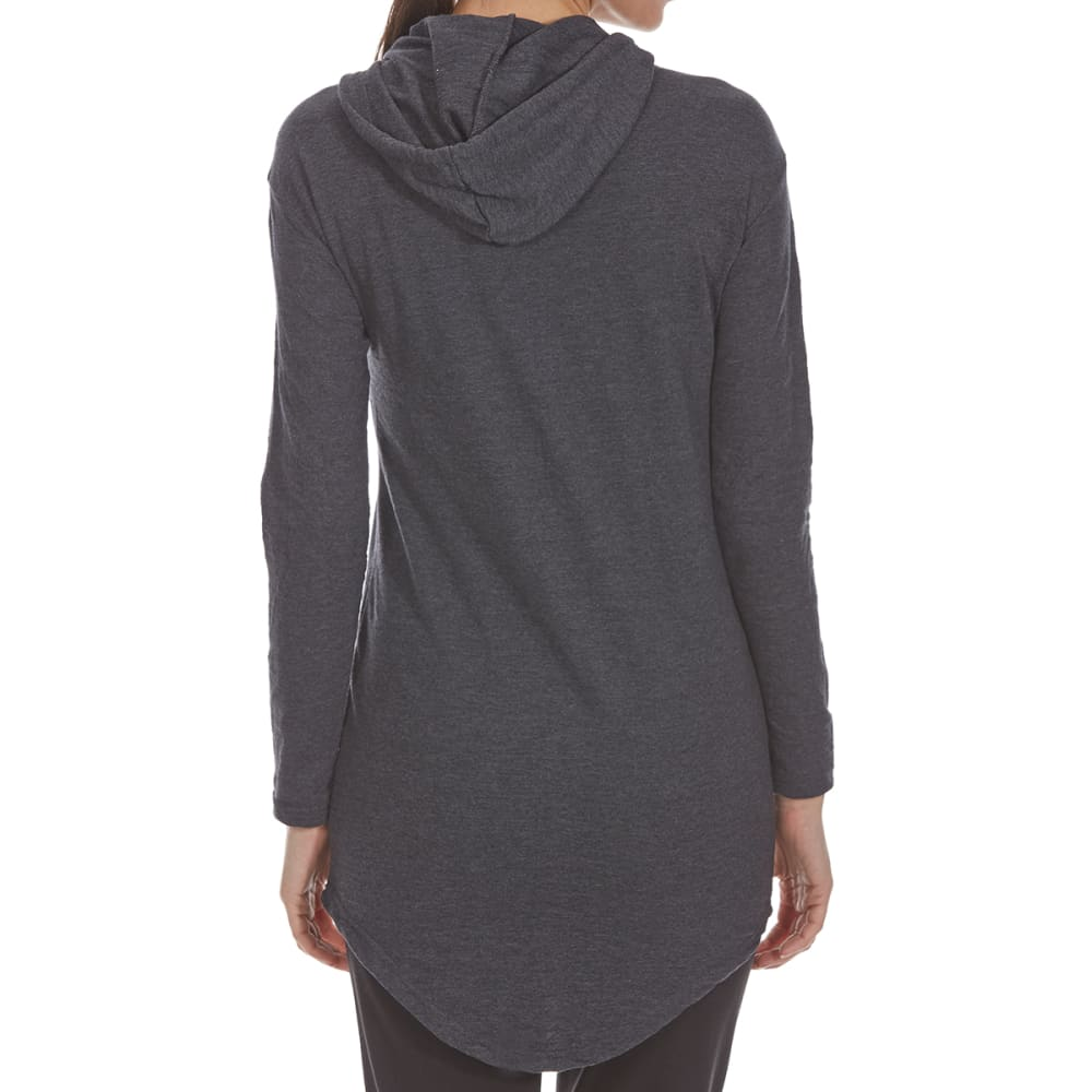 ULTRA FLIRT Juniors' Oversized French Terry Pullover Hoodie - BLACK