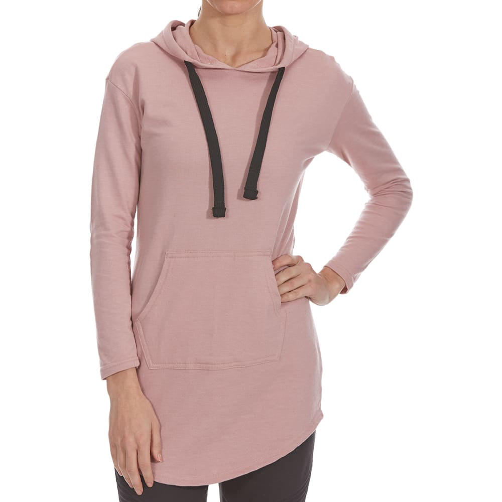 ULTRA FLIRT Juniors' Oversized French Terry Pullover Hoodie - WOODROSE