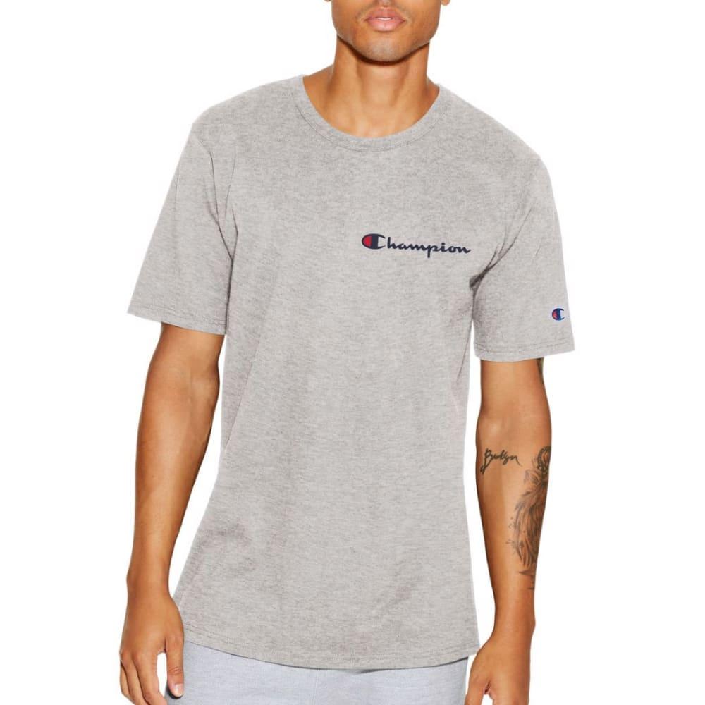 CHAMPION Men's Script Logo Heritage Short-Sleeve Tee - OXFORD-11C
